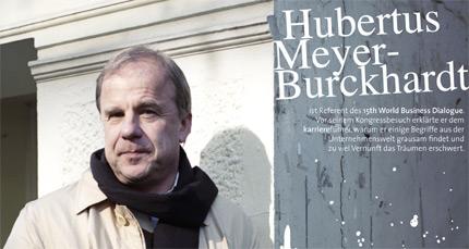 Foto: Gerald von Foris; Interview mit Hubertus Meyer-Burckhardt als PDF ansehen