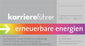 Cover karriereführer erneuerbare energien 2010.2011