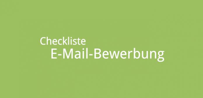 Checkliste E-Mail Bewerbung