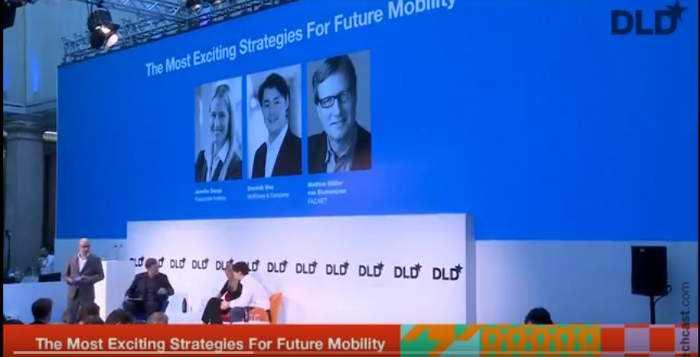 DLD16-Panel zur Zukunft der Mobilität. DLD 16; Bild: Youtube-Video