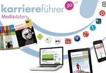 karriereführer Mediadaten, Bilder: Smartphone: Fotolia/handy © vege, Laptop: Fotolia/Sven Bähren, iPad: Fotolia/simo988
