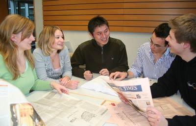 Studierende im deutsch-chinesischen Doppelstudiengang
