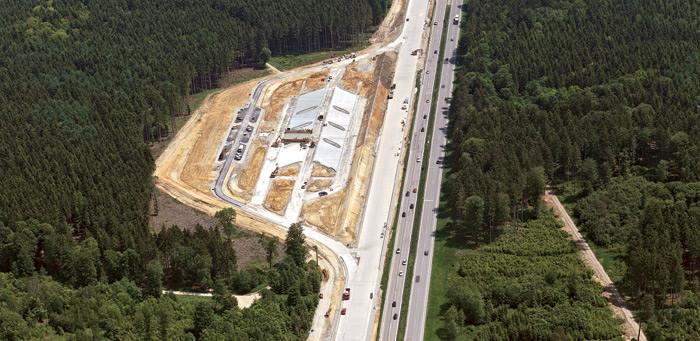 Baustellenbereich der Autobahn A8 zwischen Günzburg und Augsburg, Foto: Strabag