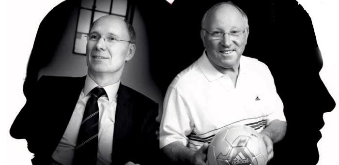 links Heinz Brandt, Foto: HHLA; rechts: Uwe Seeler, Foto: frankoppermann