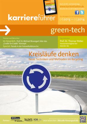 Cover karriereführer green-tech 2013.2014