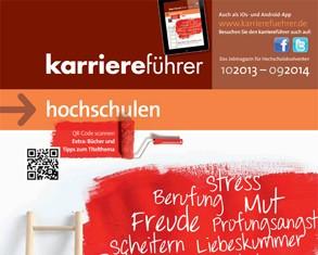 Cover karriereführer hochschulen 2013.2014