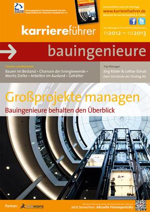 Cover karriereführer bauingenieure 2012.2013