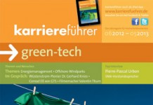 Cover karriereführer green-tech 2012.2013