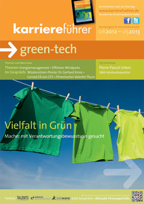 Cover karriereführer green-tech 2012.2013