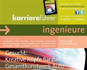 Cover karriereführer ingenieure Ausgabe 1.2012
