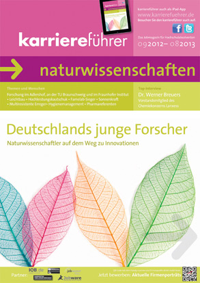 Cover karriereführer naturwissenschaften 2012.2013