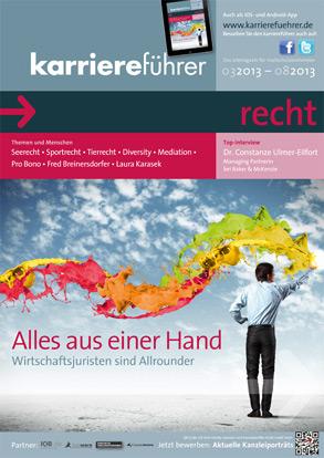 Cover karriereführer recht 1.2013