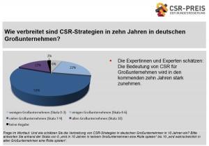 Verbreitung von CSR-Strategien in zehn Jahren, aus: Verbreitung, Entwicklung und Erfolgsfaktoren von Corporate Social Responsibility (CSR) – eine Expertenbefragung