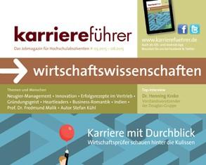 Cover karriereführer wirtschaftswissenschaften 1.2015