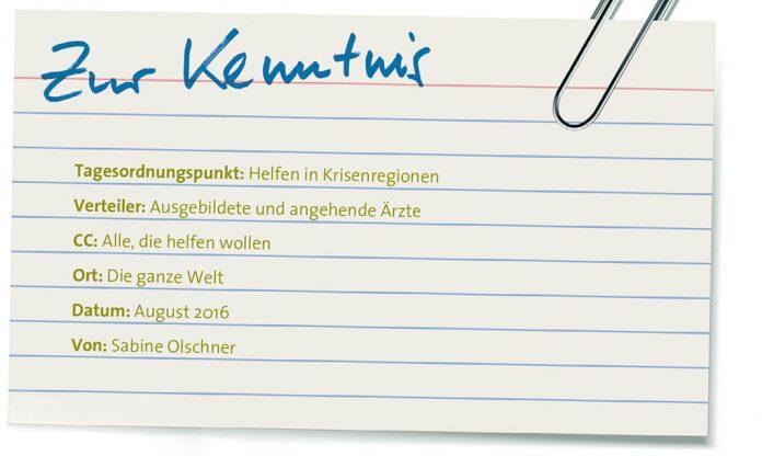 Zur Kenntnis: Ärzte ohne Grenzen, Foto: Fotolia/Leo Blanchette