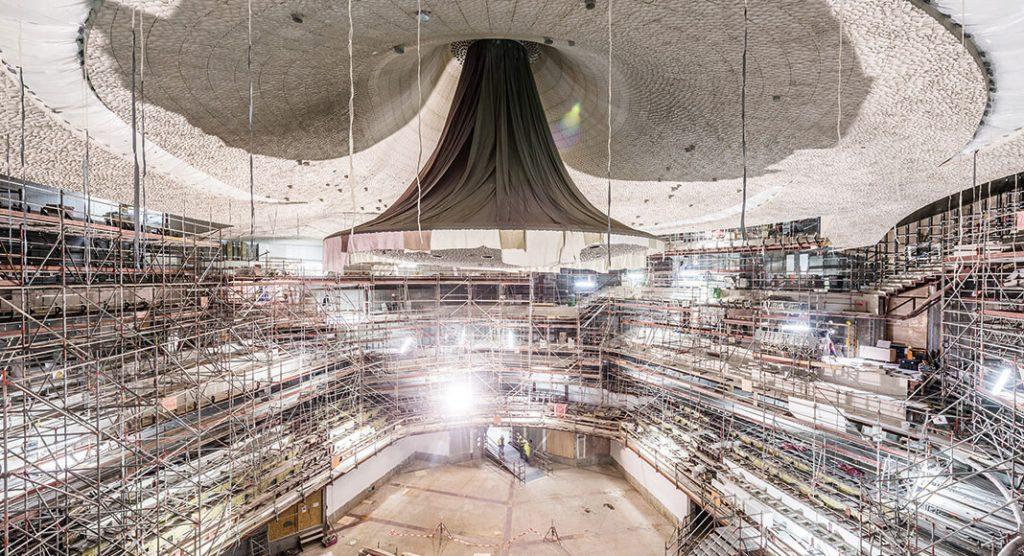 Innenausbau der Elbphilharmonie, Foto: Johannes Arlt