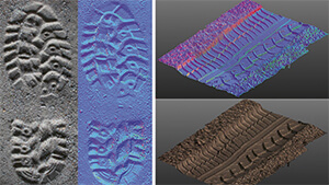 Bis ins kleinste Detail - Analyse und Ergebnisse der 3D-Scans von Schuh- und Reifenabdrücken, Foto: Fraunhofer IOF