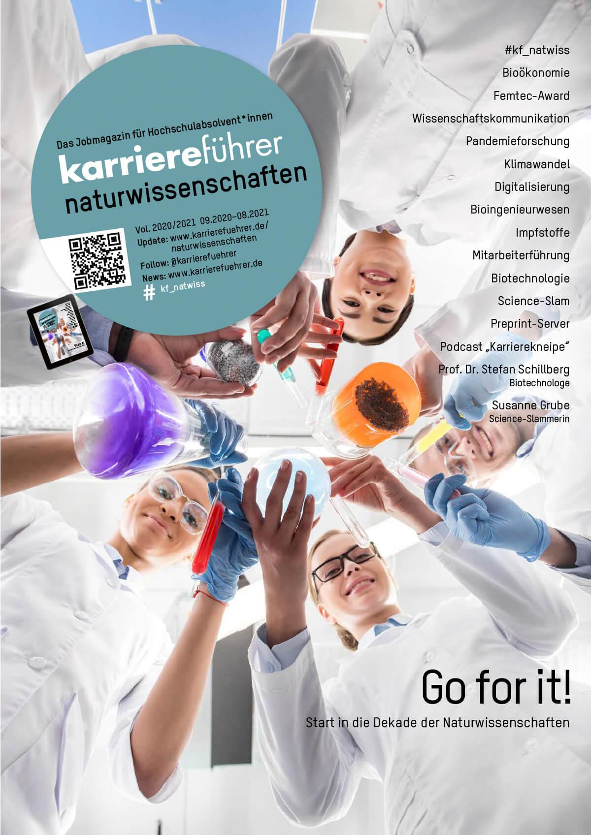 Cover karriereführer naturwissenschaften 2020-2021