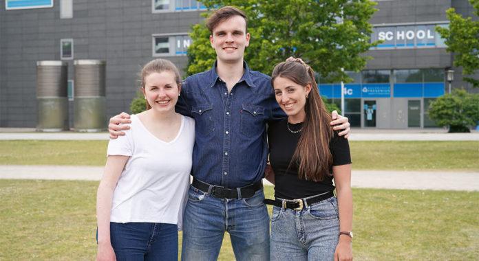 Lisa Bartkowiak, Marlon Welsch, Mira Dickel, Foto: Hochschule Fresenius